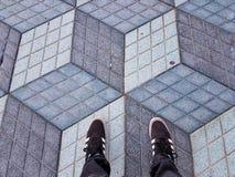 Ilusión óptica fotos de archivo