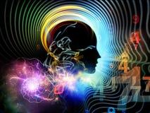 Ilusión de la mente humana ilustración del vector