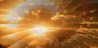 Ilusión de la salida del sol Fotografía de archivo libre de regalías