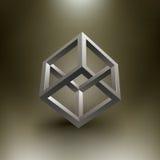Ilusión del cubo del vector ilustración del vector