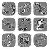 Ilusión del remolino y de la torsión elementos del diseño del arte de Op. Sys. 3D Foto de archivo
