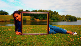 Ilusión enmarcada de la manipulación de la foto Foto de archivo libre de regalías