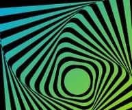 Ilusión torcida óptica Imágenes de archivo libres de regalías
