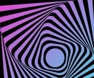 Ilusión torcida óptica Fotos de archivo libres de regalías