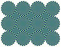 Ilusión giratoria del movimiento de las ruedas de diamante Imagen de archivo libre de regalías