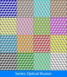 Ilusiones ópticas: Cubos Imagen de archivo libre de regalías