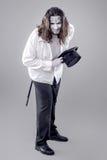 Ilusionista Performer Bowing da fantasia fotografia de stock