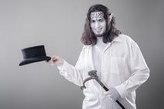 Ilusionista Performer Bowing da fantasia imagem de stock royalty free