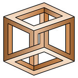 Ilusão óptica Imagem de Stock Royalty Free