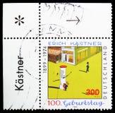 """Ilustração à de Walter Trier \ """"Emil e os detetives \"""", centenário do nascimento do serie de Erich Kastner, cerca de 1999 fotografia de stock"""