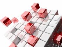 Ilustração 3d abstrata dos cubos Imagens de Stock Royalty Free
