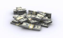 ilustração 3d de notas de banco do dólar Fotografia de Stock Royalty Free