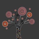 Ilustração aborígene da árvore Fotografia de Stock
