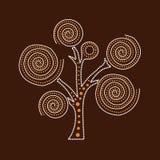 Ilustração aborígene da árvore Fotografia de Stock Royalty Free