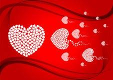 Ilustração abstrata 1 do amor Foto de Stock