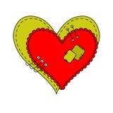 Ilustração abstrata bonita para o dia de Valentim Imagens de Stock