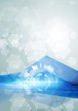 Ilustração abstrata brilhante do vetor da olá!-tecnologia Fotos de Stock