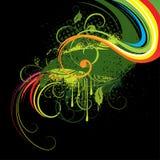 Ilustração abstrata colorida Fotos de Stock