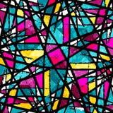 Ilustração abstrata colorida bonita do vetor dos polígono dos grafittis Fotos de Stock Royalty Free