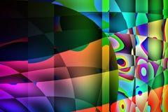 Ilustração abstrata colorida do fundo Fotos de Stock Royalty Free