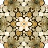 Ilustração abstrata com dinheiro. Imagens de Stock