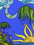 Ilustração abstrata com natureza ilustração do vetor