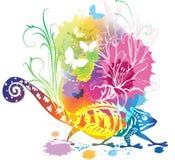 Ilustração abstrata com um chameleon Imagem de Stock