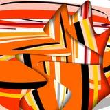 Ilustração abstrata, composição colorida. Fotografia de Stock