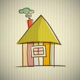 Ilustração abstrata da casa ilustração do vetor