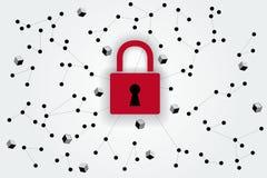 Ilustração abstrata da segurança do Internet Foto de Stock Royalty Free