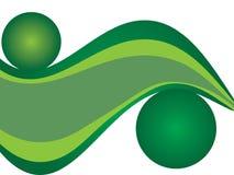 Ilustração abstrata das folhas Imagens de Stock