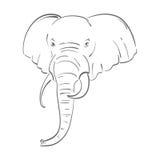 Ilustração abstrata de um elefante Imagens de Stock