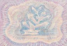 Ilustração abstrata do óleo dos cristais Fotografia de Stock Royalty Free