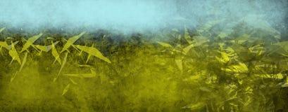 Ilustração abstrata do céu azul da floresta da vegetação das árvores da paisagem da natureza Imagem de Stock