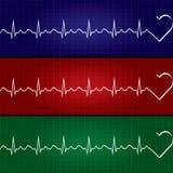 Ilustração abstrata do cardiograma dos batimentos cardíacos Fotos de Stock Royalty Free