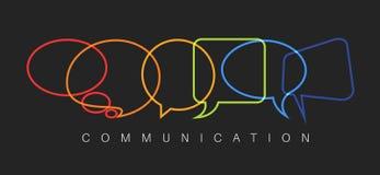 Ilustração abstrata do conceito de uma comunicação do vetor ilustração stock