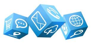 Ilustração abstrata do cubo Imagem de Stock