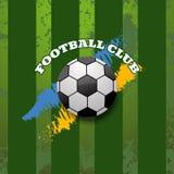 Ilustração abstrata do eps 10 do fundo do clube do futebol Fotografia de Stock