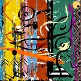 Ilustração abstrata do fundo, com cursos da pintura e splashe ilustração stock