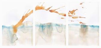 Ilustração abstrata do fundo da aquarela da paisagem ilustração do vetor