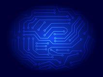 Fundo da placa de circuito impresso do azul ilustração stock