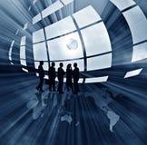 Ilustração abstrata do negócio com globo Imagens de Stock