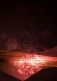 Ilustração abstrata do vetor da olá!-tecnologia do conceito Imagem de Stock Royalty Free