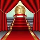Ilustração abstrata do vetor das cortinas, vermelha Fotos de Stock Royalty Free