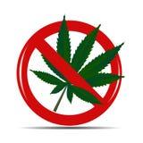 Ilustração abstrata do vetor do fundo do cannabis Foto de Stock