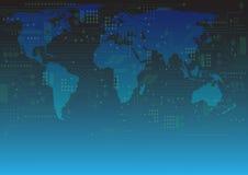 Ilustração abstrata do vetor do fundo do conceito da tecnologia Imagem de Stock Royalty Free