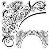 Ilustração abstrata do vetor do ornamento do pássaro Imagem de Stock