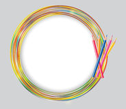 Ilustração abstrata do vetor do quadro do círculo Foto de Stock Royalty Free