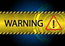 Ilustração abstrata do vetor do sinal de aviso ilustração stock