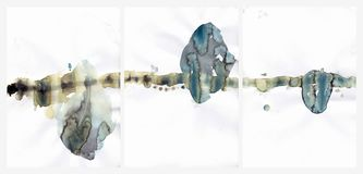 Ilustração abstrata dos corações do fundo da aquarela ilustração royalty free